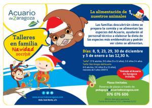 Vuelven los Talleres Familiares de Alimentación del Acuario de Zaragoza