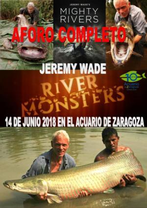 Jeremy Wade viene a celebrar el décimo aniversario de Acuario de Zaragoza