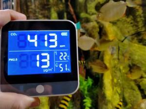 VISITA SEGURA EN EL ACUARIO DE ZARAGOZA: MEDIDORES DE CO2