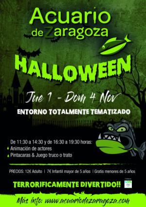 Llega el Halloween más aterrador al Acuario de Zaragoza