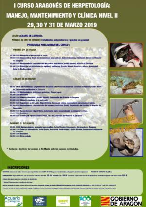 I Curso Herpetología: Manejo, Mantenimiento y Clínica Nivel II, 29, 30 y 31 de marzo