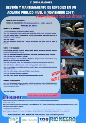 Curso monográfico gestión y mantenimiento de acuarios nivel II