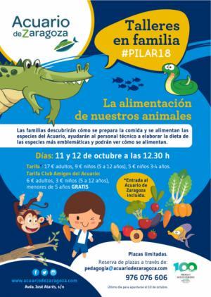 Talleres de alimentación de especies para familias en las Fiestas del #Pilar18