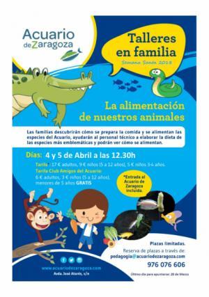 Talleres Familiares Semana Santa 2018 en el Acuario de Zaragoza